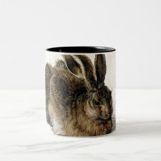 Rabbit Hare in the Snow - Durand Two-Tone Coffee Mug