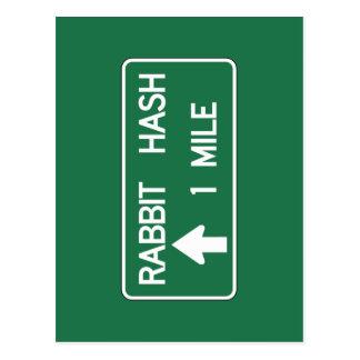 Rabbit Hash, Road Marker, California, US Postcard