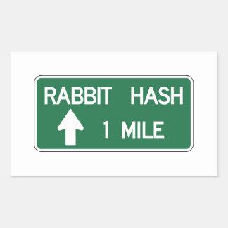 Rabbit Hash Road Marker California US Rectangular Sticker