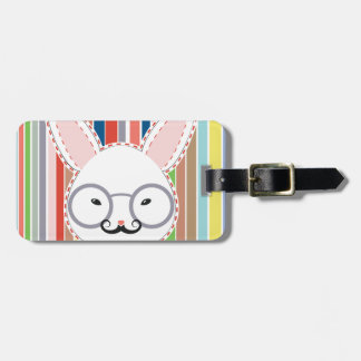Rabbit Head with Glasses Luggage Tag
