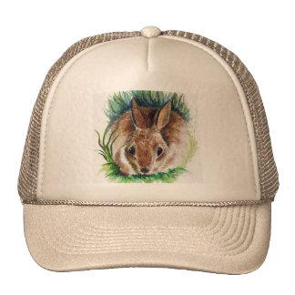 Rabbit Hiding in the Grass - Watercolor Pencil Trucker Hat