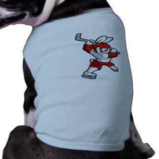 rabbit hockey cartoon shirt