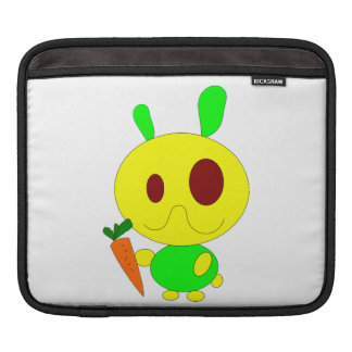Rabbit holding a carrot cartoon sleeves for iPads