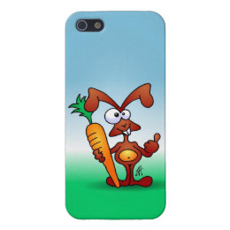 Rabbit holding a healthy carrot case for iPhone SE/5/5s