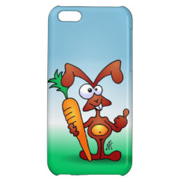 Rabbit holding a healthy carrot cover for iPhone 5C