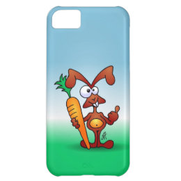 Rabbit holding a healthy carrot iPhone 5C cover