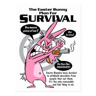 Rabbit Hunting Season Easter Postcard