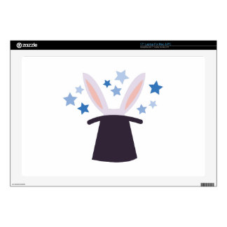 Rabbit in a Hat Decal For Laptop
