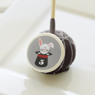 Rabbit In A Hat Magician Birthday Party Cake Pops