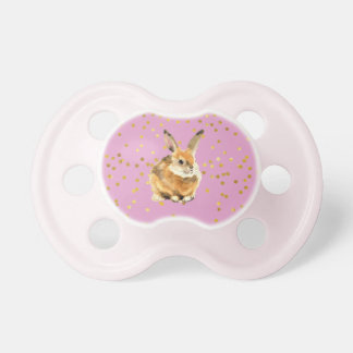 Rabbit in a Shower of Golden Polka Dots Pacifier