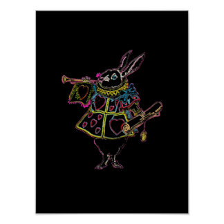 Rabbit in Alice in Wonderland II ~ Poster