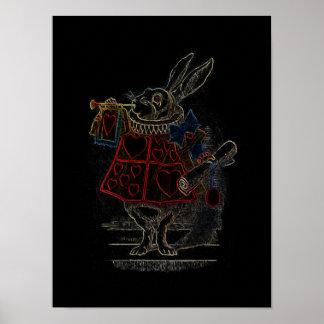 Rabbit in Alice in Wonderland ~ Poster Print