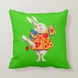 Rabbit in Alice in Wonderland ~ Throw Pillow 20x20