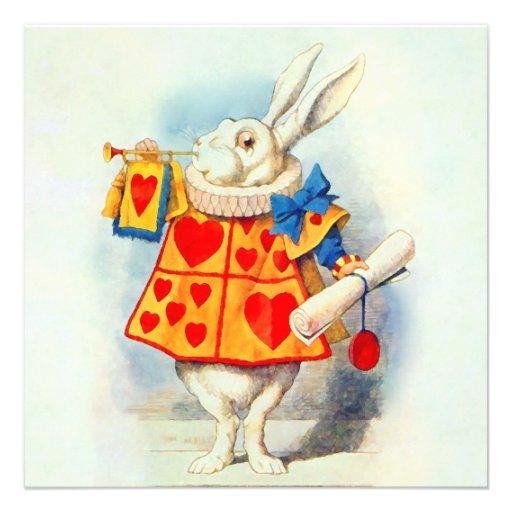 Rabbit in Alice Wonderland ~ Invitation