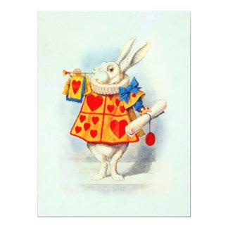 "Rabbit in Alice Wonderland ~ Invitation 6.5"" X 8.75"" Invitation Card"