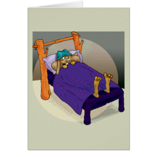 Rabbit in bed card