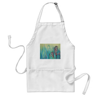rabbit in grass adult apron
