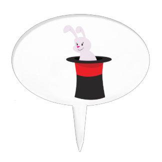 Rabbit in Hat Cake Topper