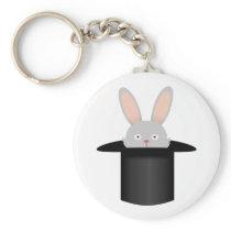 Rabbit in hat keychain