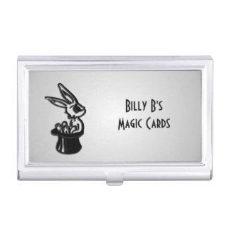 Rabbit in Hat Magic Busuiness Card Case