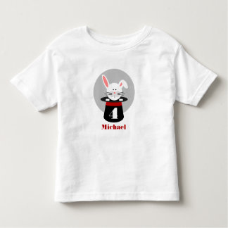Rabbit In Hat Magician Birthday Shirt
