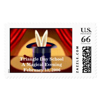 Rabbit in Hat Postage Stamps