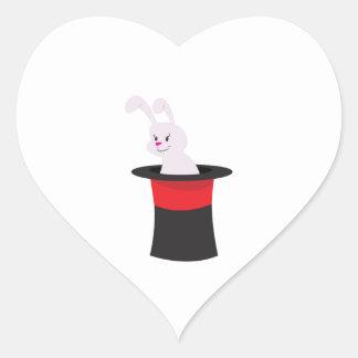 Rabbit in Hat Heart Sticker