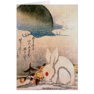 Rabbit in Snow - Japanese - by Hokushū Card