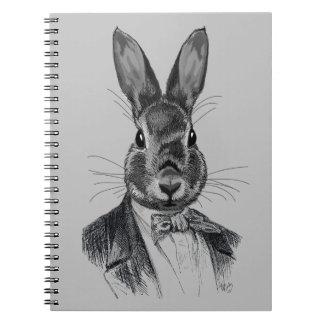 Rabbit In Suit Portrait Notebook