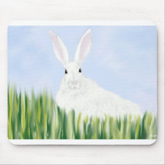 RABBIT IN THE FIELD MOUSE PAD