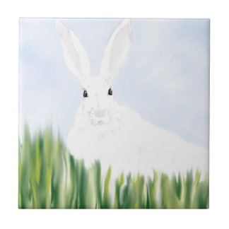 RABBIT IN THE FIELD TILE