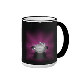 Rabbit  in the Magic Hat Ringer Mug
