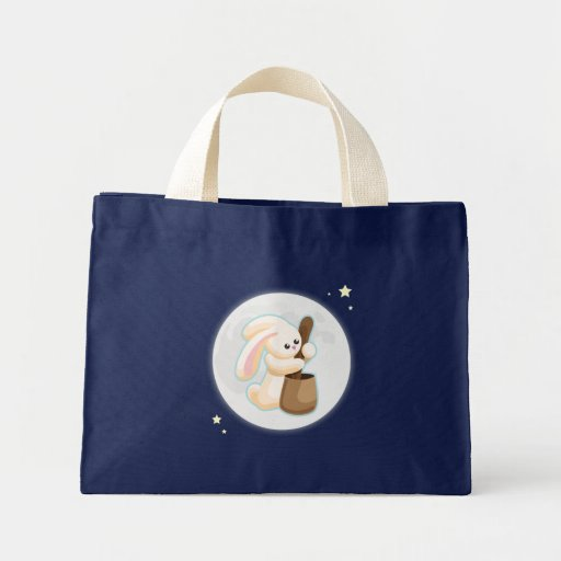 Rabbit in the Moon Canvas Bags