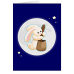 Rabbit in the Moon Greeting Cards