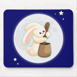 Rabbit in the Moon Mouse Pad