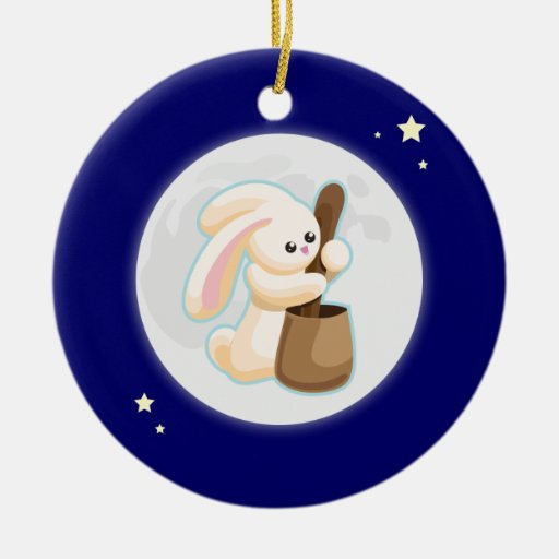Rabbit in the Moon Ornaments