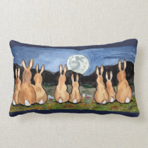 """Rabbit in the Moon"" Throw Accent Pillow"