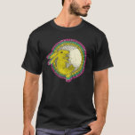 Rabbit in the Moon TShirt (pink/green/yellow)