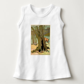 Rabbit in the Peaceful Forest Sleeveless Dress