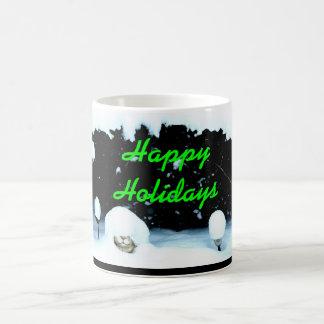 RABBIT IN THE SNOW CHRISTMAS mug