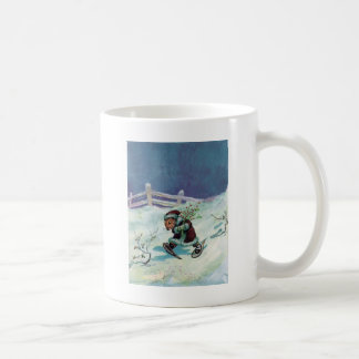 Rabbit in Winter Coat and Snowshoes Coffee Mug
