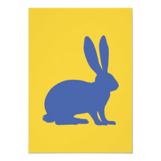 Rabbit 13 Cm X 18 Cm Invitation Card