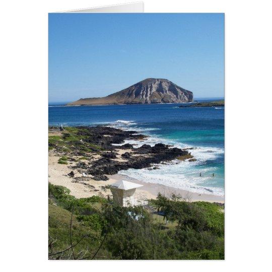 Rabbit Island - O'ahu, Hawaii Card