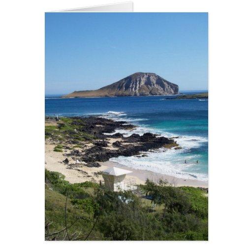 Rabbit Island - O'ahu, Hawaii Greeting Card
