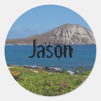 Rabbit Island Oahu Hawaii Stickers