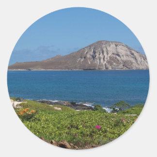 Rabbit Island Oahu Hawaii Round Sticker