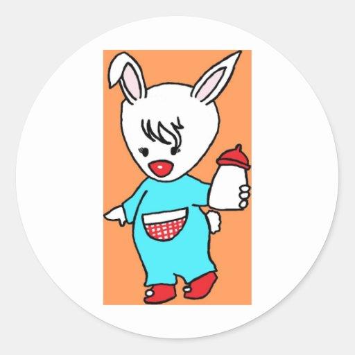 Rabbit.jpg ocupado pegatina redonda