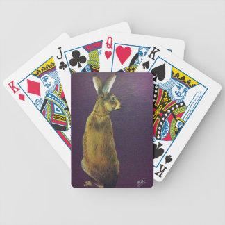 Rabbit.jpg púrpura baraja cartas de poker