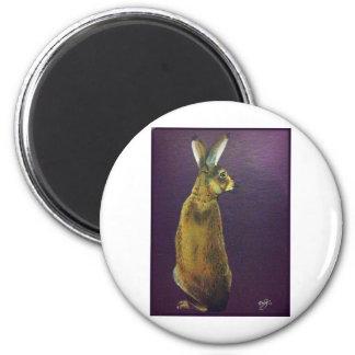 Rabbit.jpg púrpura imán redondo 5 cm