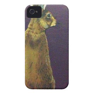 Rabbit.jpg púrpura iPhone 4 Case-Mate cárcasa